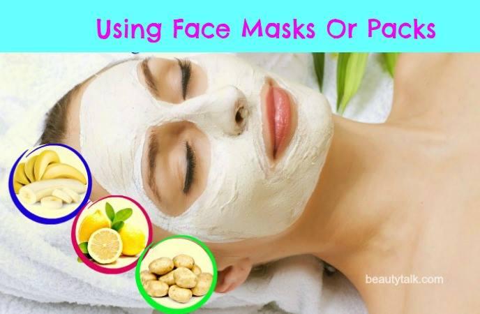 using face masks or packs