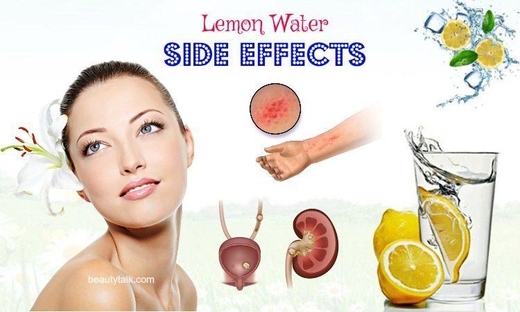 lemon water side effects on health