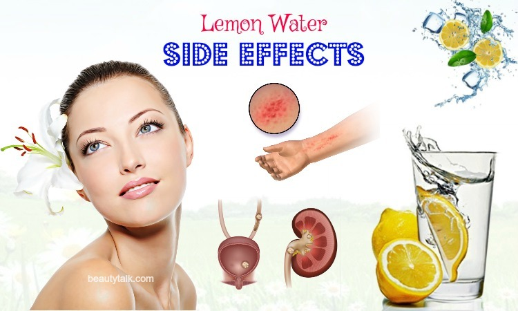lemon water side effects on health