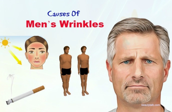 things that cause men's wrinkles - causes of men's wrinkles